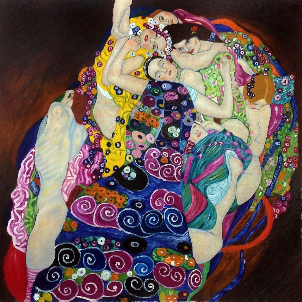 Hand Painted Oil Reproduction Of Gustav Klimt S The Virgin