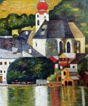 Church in Unterach on the Attersee