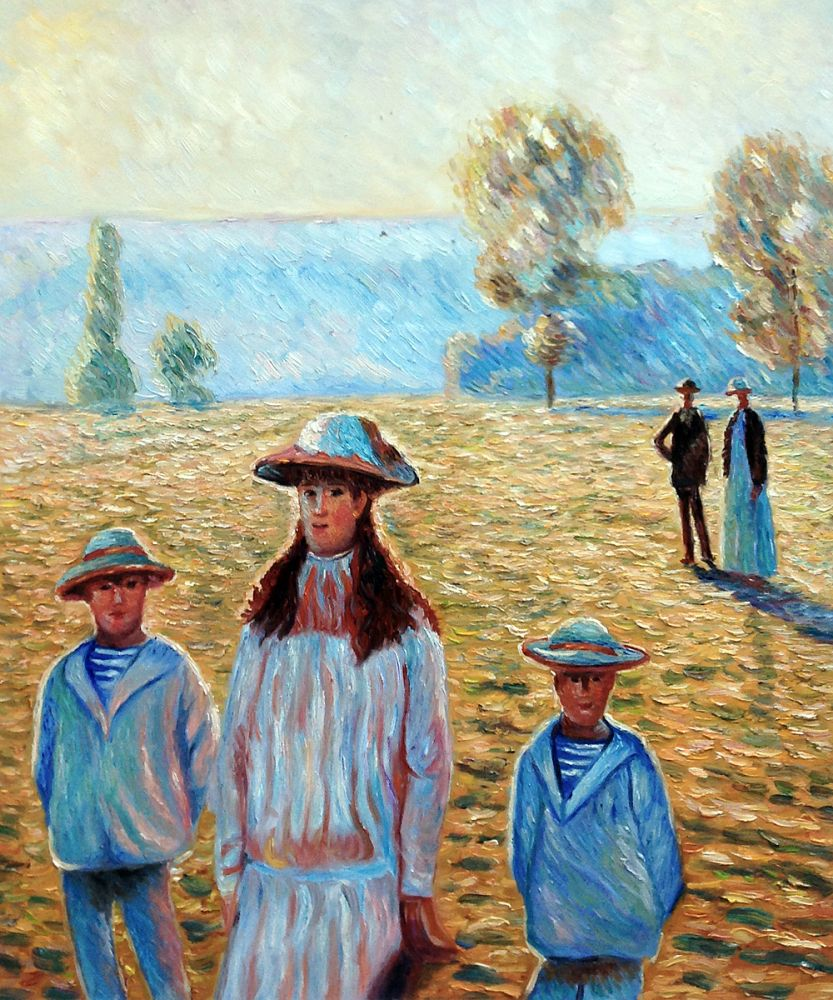 Landscape with Figures, Giverny 1888 (Artist Rendition)
