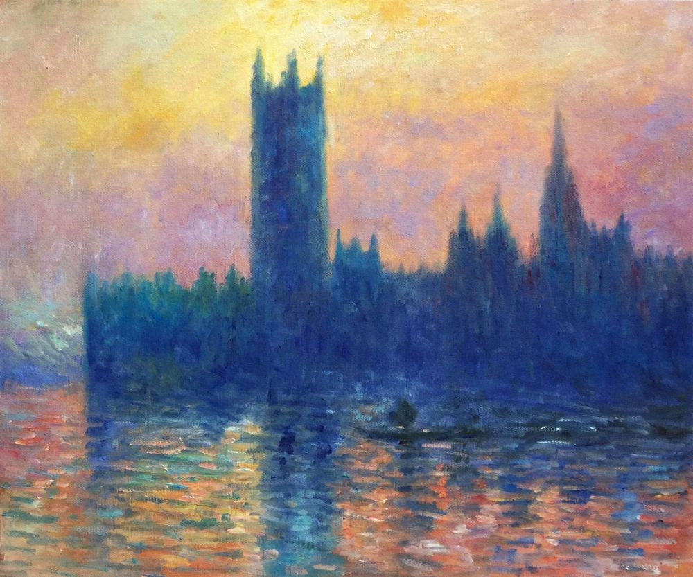 Houses of Parliament, Sunset Effect