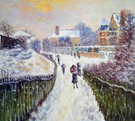 Boulevard Saint-Denis, Argenteuil, in Winter
