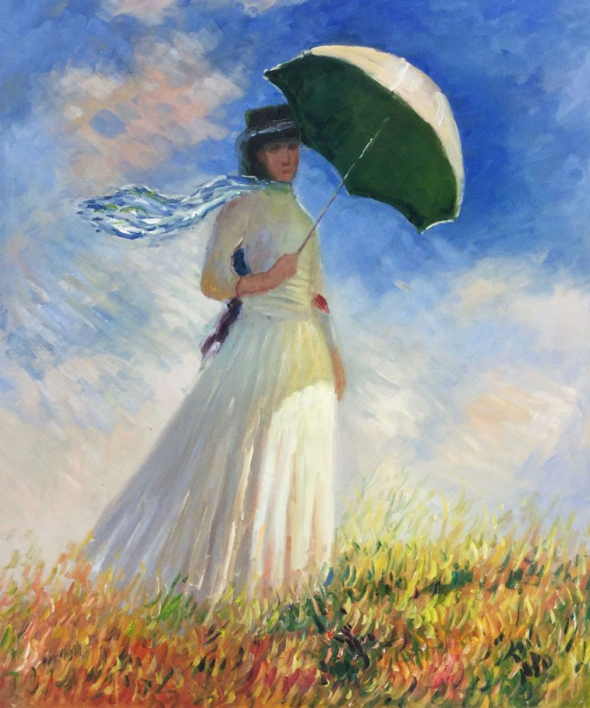 Woman with a Parasol (Facing Right)