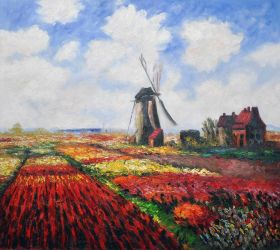 Tulip Field with the Rijnsburg Windmill