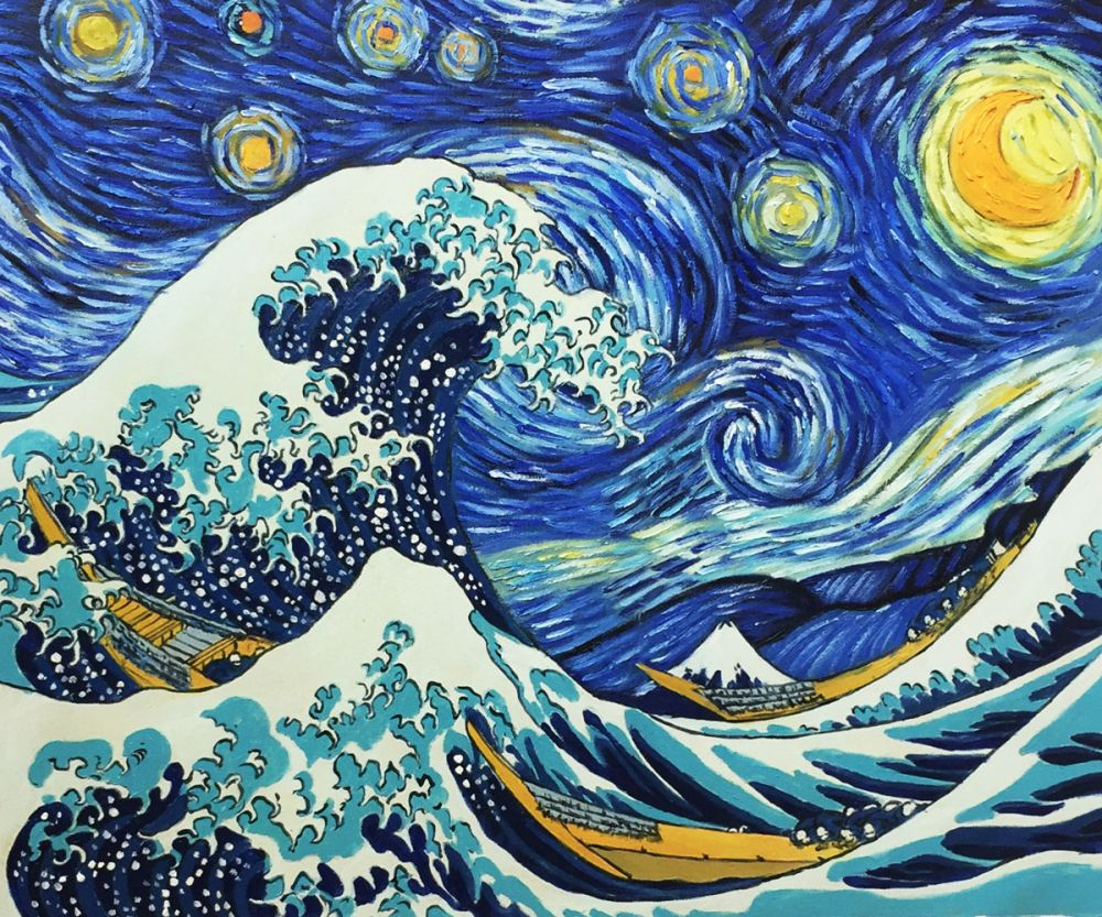 Starry Night Wave Collage