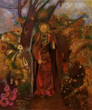 Buddha Walking Among The Flowers, 1905