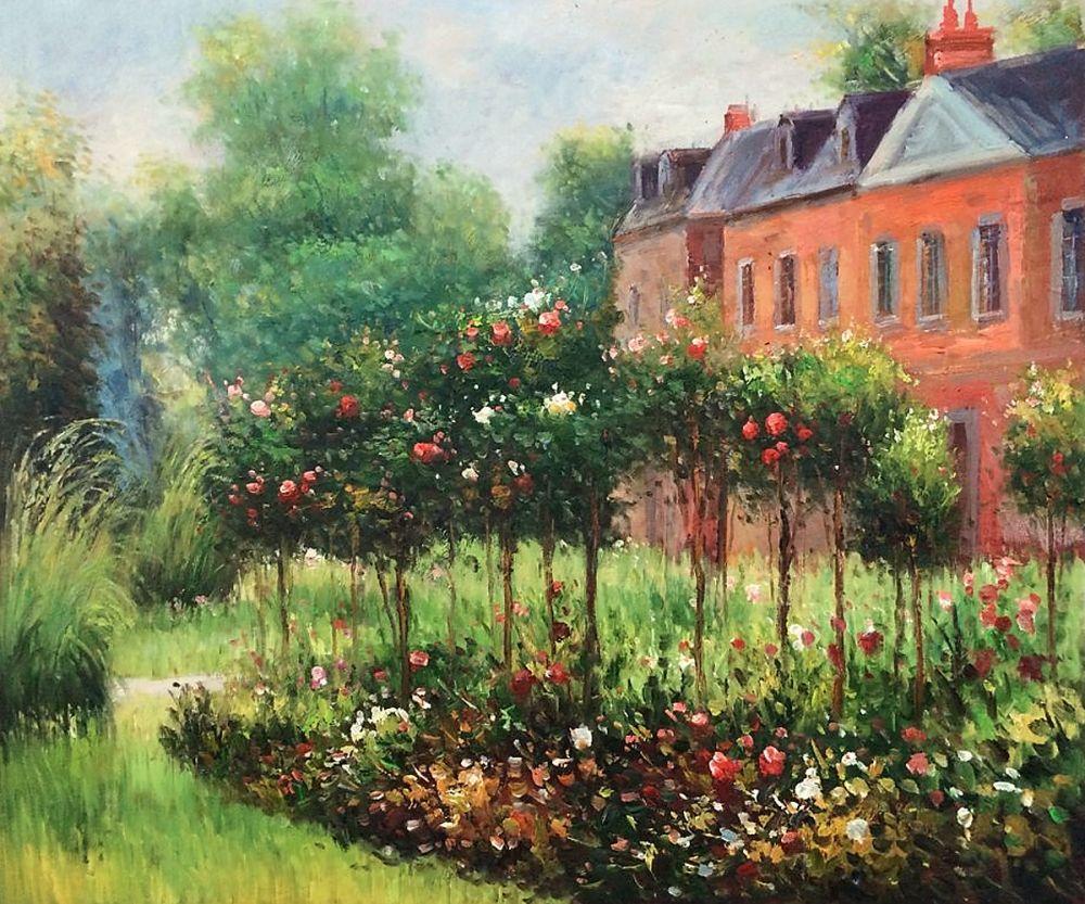 The Rose Garden at Wargemont, 1879