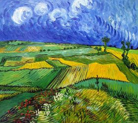 Wheat Fields at Auvers Under Clouded Sky