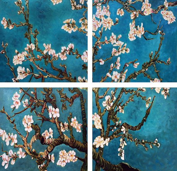 Vincent Van Gogh, Branches of an Almond Tree in Blossom ...
