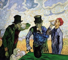 The Drinkers (After Daumier), 1890
