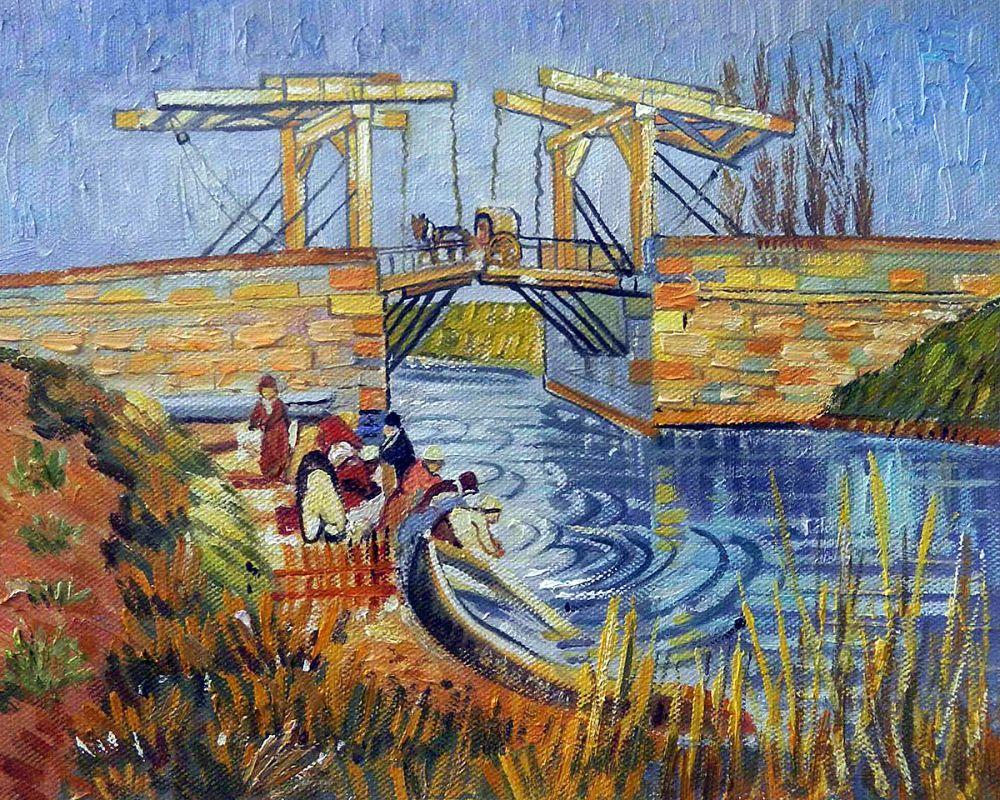 Langlois Bridge at Arles with Women Washing