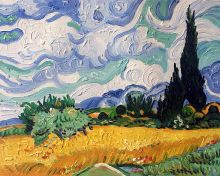 Wheat Field with Cypresses - 10