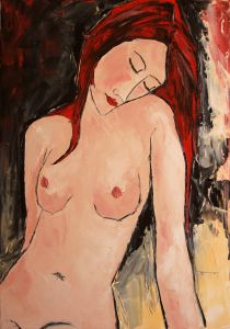 Young girl with red hair in nude - 36
