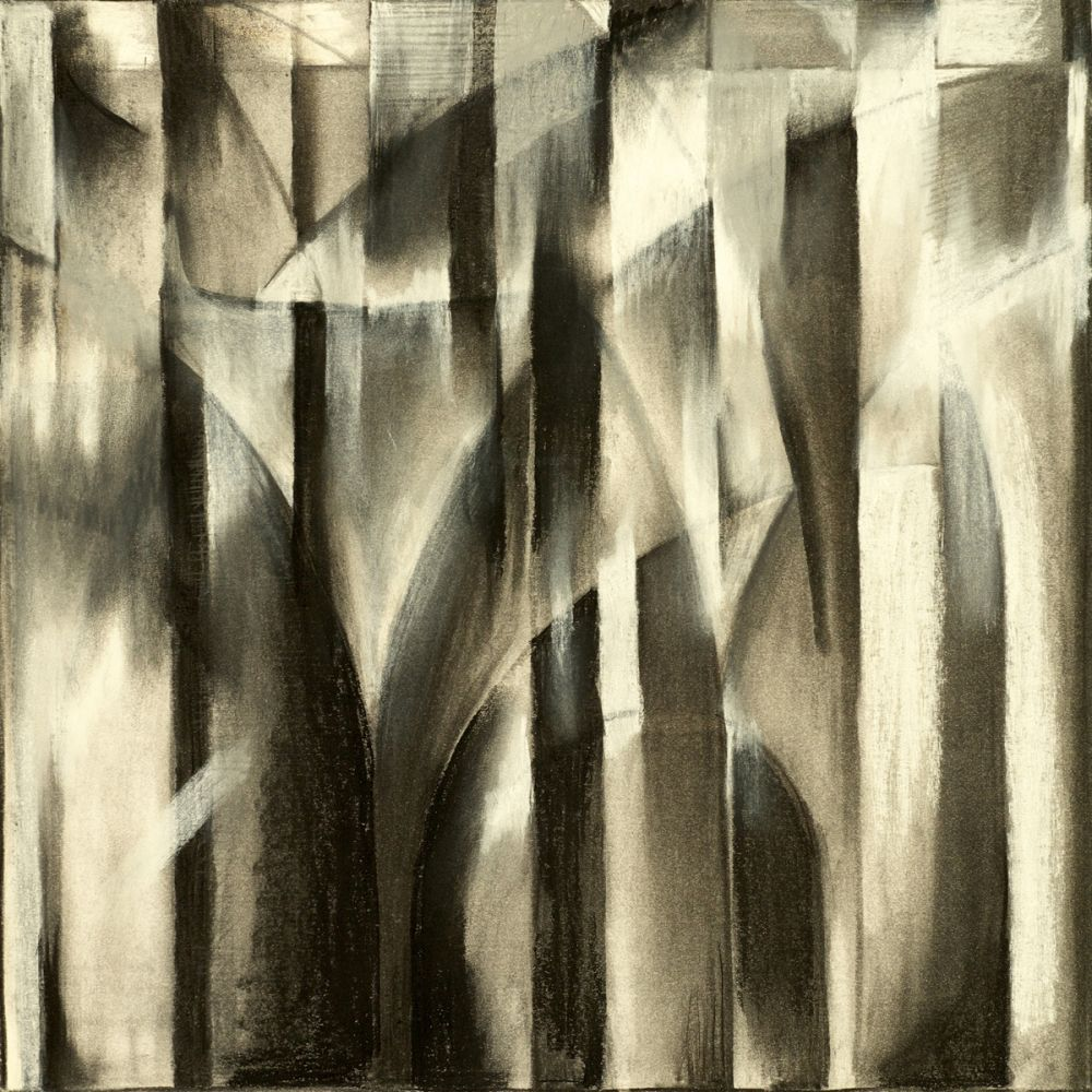 A Charcoal Study For An Abstract Composition