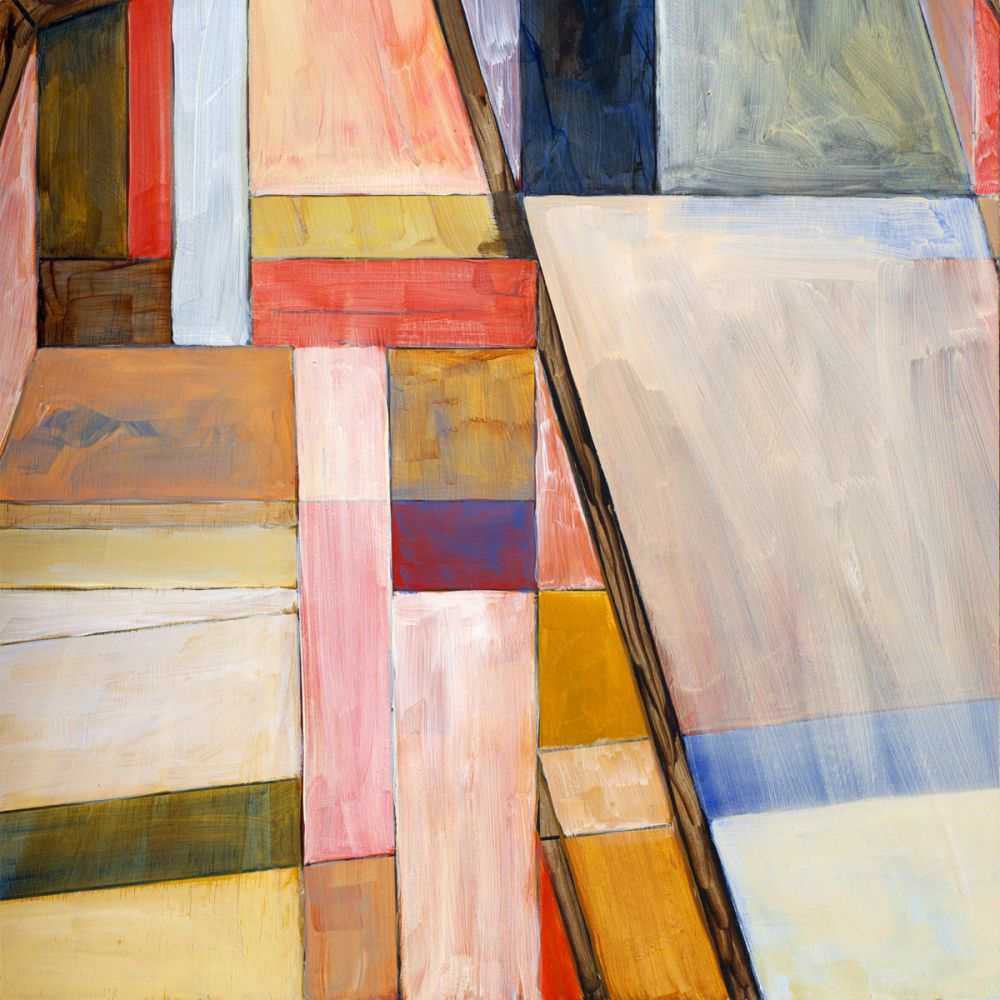 A geometrict abstract painting