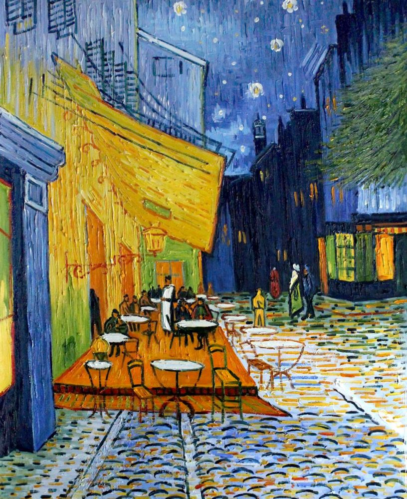 Vincent van gogh cafe terrace at night original size for Terrace night