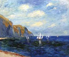 Cliffs and Sailboats at Pourville - 24