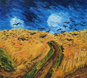 Wheat Field With Crows - 10