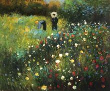 Woman with a parasol in a Garden (Frau mi Sonnenschirm) - 24