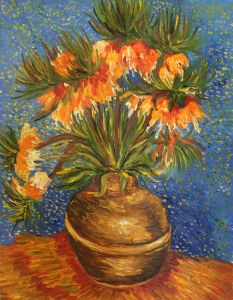 Crown Imperial Fritillaries in a Copper Vase - 20