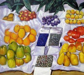 Fruits sur un étalage