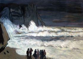 Rough Sea at Etretat - 36