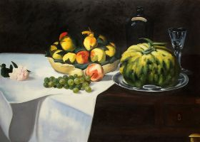 Still Life with Melon and Peaches - 36
