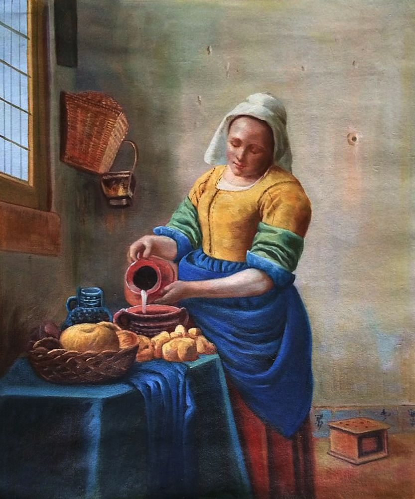Milk Maid Oil Painting