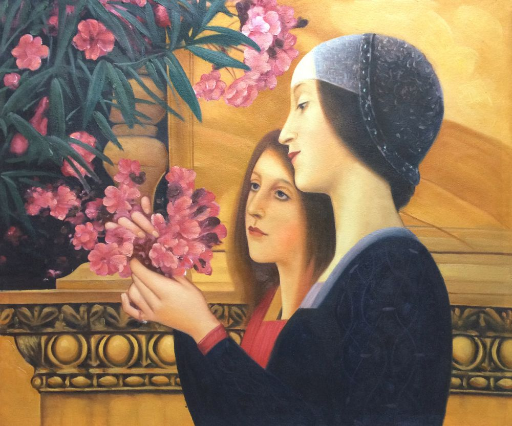 Two Girls with an Oleander (right detail)