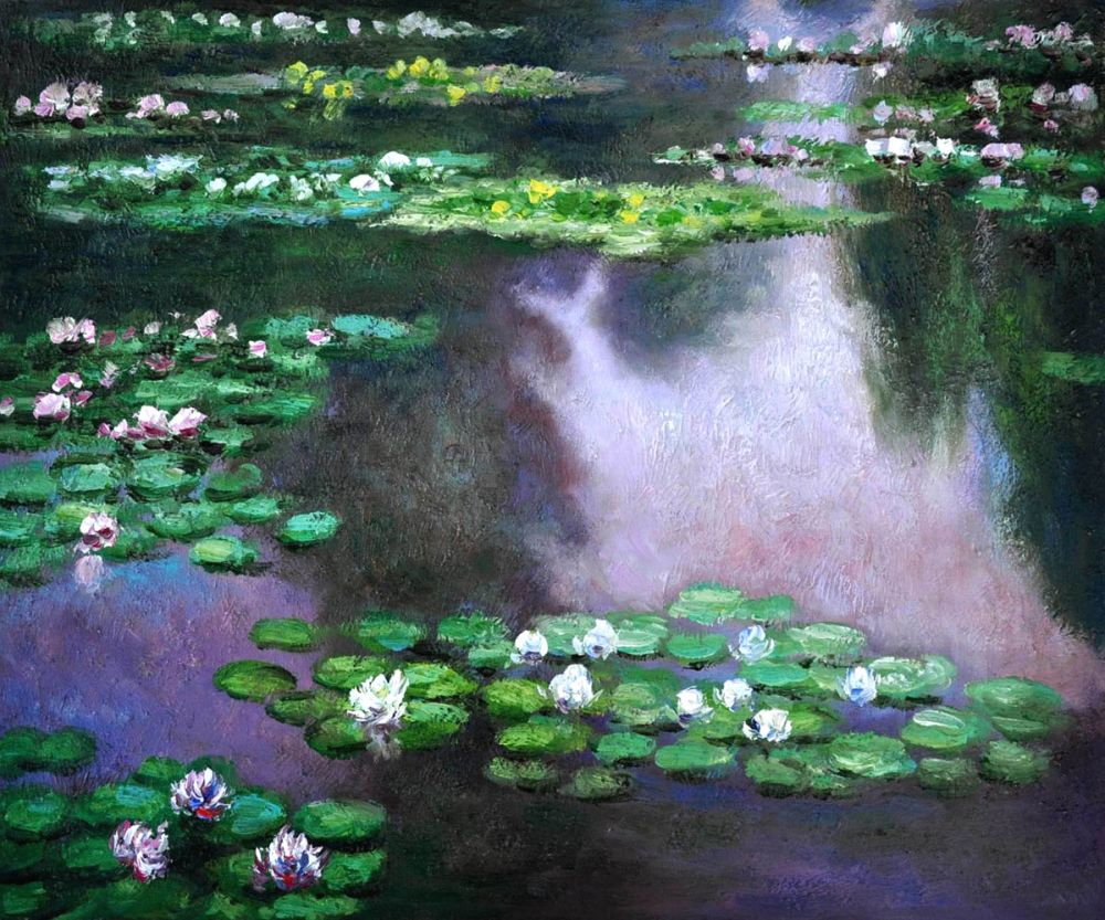 Water Lilies (green and violet)