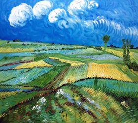Wheat Fields at Auvers Under Clouded Sky - 24