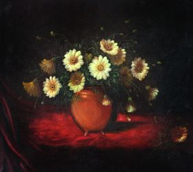 Yellow Daisies in a Bowl