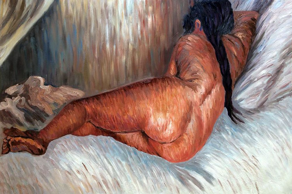 Nude Woman Reclining, Seen from the Back