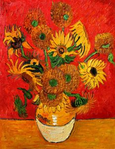 Sunflowers (Artist Interpretation Red) - 20