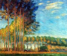 Poplars on the Banks of the River Epte, Seen from the Marsh - 24