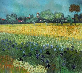View of Arles with Irises - 24