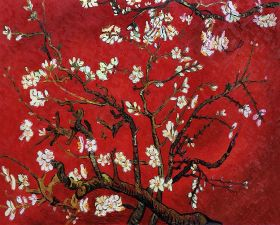 Branches of an Almond Tree in Blossom (Interpretation in Red) - 48