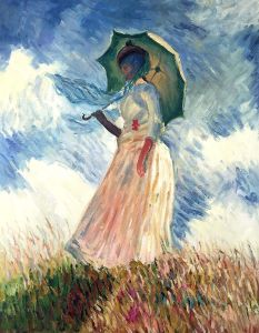 Woman with a Parasol (Facing Left) - 20