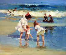 Children Playing at the Seashore - 24