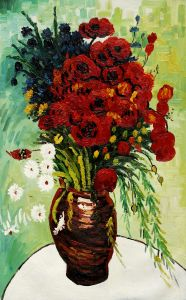Vase with Daisies and Poppies - 24