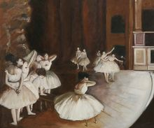 Ballet Rehearsal on the Stage