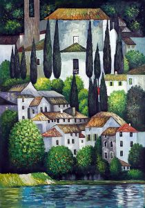 Church in Cassone (Landscape with Cypress)