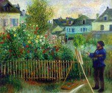 Monet Painting in His Garden at Argenteuil, 1873 - 24