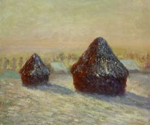 Wheat, Snow, Morning