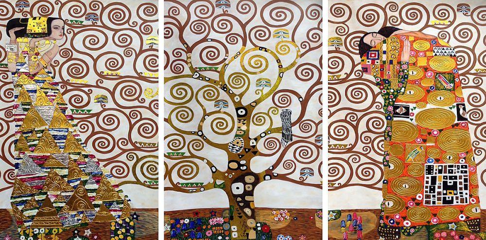 Tree of Life Frieze Triptych (Luxury Line)