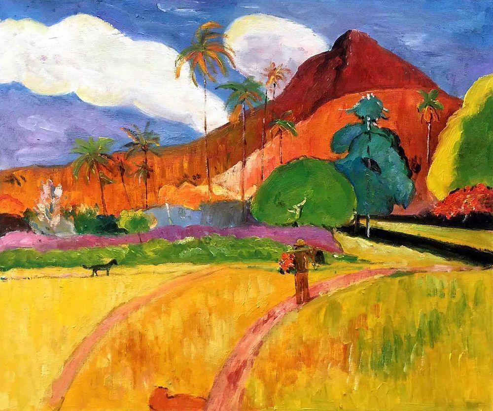 Gauguin Tahitian Mountains 1893 Reproduction Oil