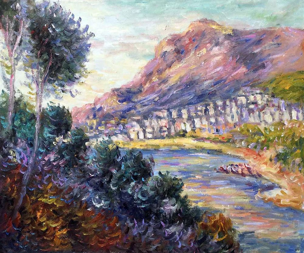 Monte Carlo Seen from Roquebrune, 1884