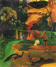 Matamoe (Death), Landscape with Peacocks, 1892