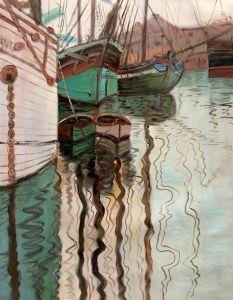 Harbor of Trieste, 1907