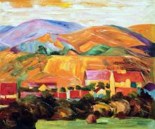Village with Mountains, 1907 - 24