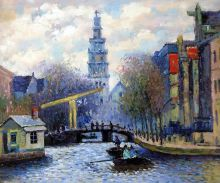 Canal in Amsterdam, 1874 - 24